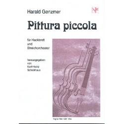 Genzmer, Harald: Pittura piccola : f├╝r Hackbrett und Streichorchester Partitur und Stimmen (Hb-1-1-1-1-1)