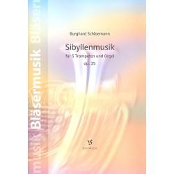 Schloemann, Burghard: Sibyllenmusik op.35 : f├╝r 5 Trompeten und Orgel Partitur und Stimmen