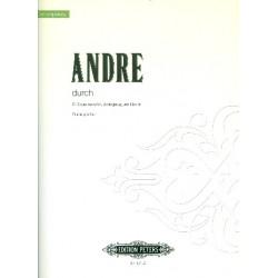 Andre, Mark: Durch : für Sopransaxophon, Schlagzeug und Klavier Partitur