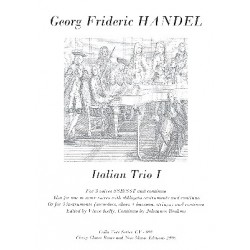 Händel, Georg Friedrich: Italian Trio no.1 for 3 voices (SSB/SST) or instruments and Bc score and parts