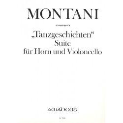 Montani, Pietro: Tanzgeschichten : für Horn und Violoncello 2 Spielpartituren