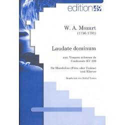 Mozart, Wolfgang Amadeus: Laudate Dominum KV339 für Mandoline (Flöte, Violine) und Klavier