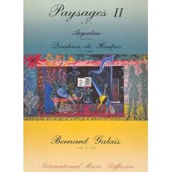 Galais, Bernard: Paysages no.2 - Argentine : pour 4 harpes partition et parties