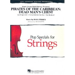 Zimmer, Hans: Pirates of the caribbean vol.2 (Medley) : Dead Man's Chest for string orchestra score and parts