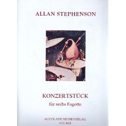 Stephenson, Allan: Konzertstück (1987) für 6 Fagotte Partitur und Stimmen