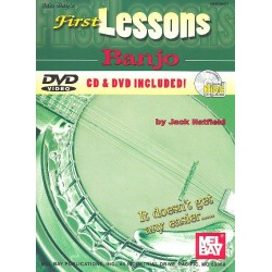 Hatfield, Jack: First Lessons (+CD +DVD-Video) : for 5-string banjo