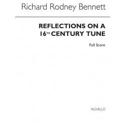 Bennett, Richard Rodney: Reflections on a 16th Century Tune für 2 Flöten, 2 Oboen, 2 Klarinetten, 2 Fagotte, 2 Hörner, Partitur