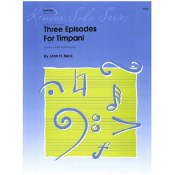 Beck, John H.: 3 Episodes for timpani and piano