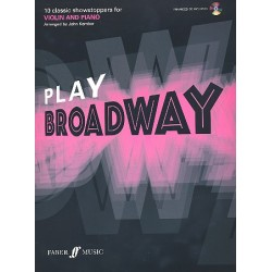 Play Broadway (+CD): for violin and piano