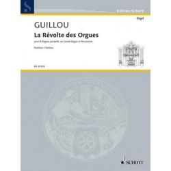 Guillou, Jean: La révolte des orgues für 8 Orgelpositive, große Orgel und Schlagzeug Partitur