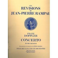 Doppler, Albert Franz: Concerto ré mineur : pour 2 flûtes et orchestre partition