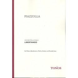 Piazzolla, Astor: Libertango : f├╝r Bandoneon, Violine, Gitarre, Kontrabass und Klavier Partitur