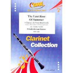 The Last Rose Of Summer for 4 clarinets and piano (keyboard) (rhythm group ad lib) score and parts