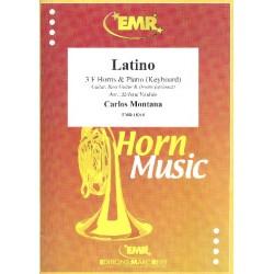 Montana, Carlos: Latino : for 3 horns and piano (keyboard) (guitar, bass, drums ad lib) score and parts