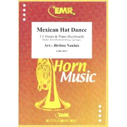 Mexican Hat Dance : for 3 horns and piano (keyboard) (guitar, bass, drums ad lib) score and parts