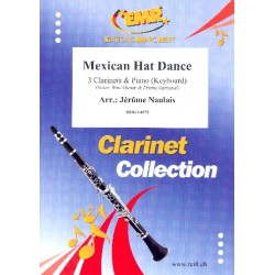 Mexican Hat Dance : for 3 clarinets and piano (keyboard) (rhythm group ad lib) score and parts