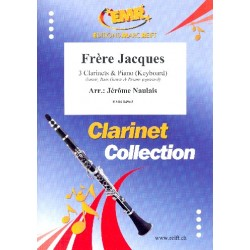 Frère Jacques : for 3 clarinets and piano (keyboard) (rhythm group ad lib) score and parts