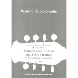 Dall'Abaco, Evaristo Felice: Concerto all unisono h-Moll op.2,8 : für Cembalo und zupforchester Partitur