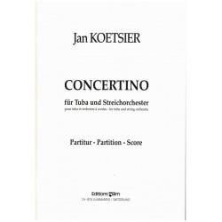 Koetsier, Jan: Concertino op.77 : für Tuba und Streichorchester Partitur
