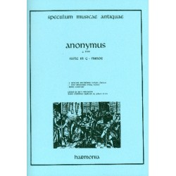 Anonymus: Suite in g Minor : for 2 descant recorders (violins/flutes), alto recorder (viola) and Bc score