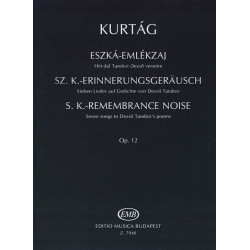 Kurtag, György: Sz.K.-Erinnerungsgeräusch op.12 : für Gesang und Violine Partitur und Stimme (dt/en/ung)