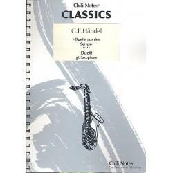Händel, Georg Friedrich: Duette aus den Suiten Band 1 : für 2 gleiche Saxophone Partitur und Stimmen