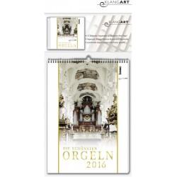 Kalender Die schönsten Orgeln 2016 (+CD) Monatskalender 30x42cm