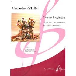 Rydin, Alexandre: 7 escales imaginaires : für 1-3 Percussionisten Partitur und Stimmen