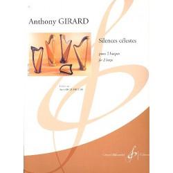 Girard, Anthony: Silences célestes : für 2 Harfen Spielpartitur