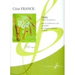 Franck, C├®sar: Hulda : pour 4 saxophones (ATTBar) et voix (piano) partition et parties