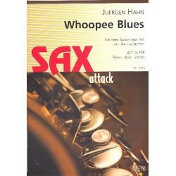 Hahn, Jürgen: Whoopee Blues : für 3 Saxophone, (Klavier, Bass, Schlagzeug) ad lib Partitur und Stimmen