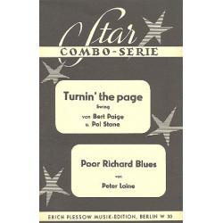 Turning the Paige und Poor Richard Blues : für Combo Direktion und Stimmen