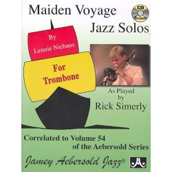 Maiden Voyage Jazz Solos (+CD) : for trombone (as played by Rick Simerly) correlated to vol.54 of the Aebersold Series