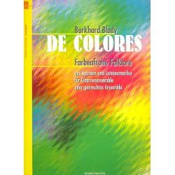 De Colores : f├╝r Gitarren-Ensemble (andere 3-4stimmige Ensembles) Partitur und Stimmen