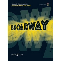 Play Broadway (+CD): for alto saxophone and piano