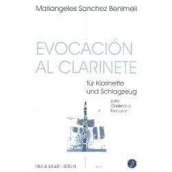 Sanchez Benimeli, Mariangeles: Evocación al clarinete für Klarinette und Schlagzeug Partitur