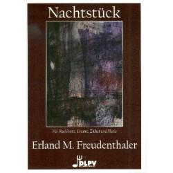 Freudenthaler, Erland M.: Nachtstück für Hackbrett, Gitarre, Zither und Harfe Partitur und Stimmen