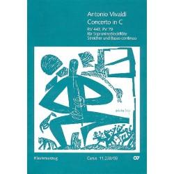 Vivaldi, Antonio: Konzert C-Dur RV443 : für Sopraninoblockflöte, Streicher und Bc Klavierauszug