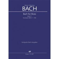 Bach, Johann Sebastian: Bach for Brass Band 1 : Kantaten BWV1-100 Trompeten- und Zinkenpartien in Stimmenpartitur, z.T. mit