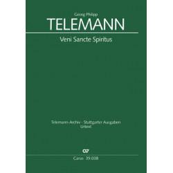 Telemann, Georg Philipp: Veni Sancte Spiritus TVWV3:89 für 3 hohe Stimmen (SSS/SSA) und Bc Partitur