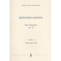 Grieg, Edvard Hagerup: Der Einsame op.32 für Bariton, 2 Hörner und Streichorchester Studienpartitur (dt/en/frz)