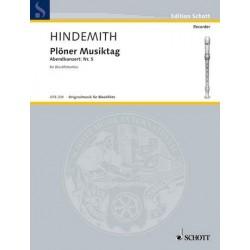 Hindemith, Paul: Plöner Musiktag - Abendkonzert : Trio für 3 Blockflöten (SAA/SAT) Partitur und Stimmen