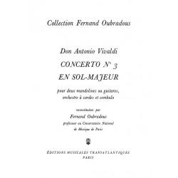 Vivaldi, Antonio: Concerto sol majeur no.3 pour 2 guitares et cordes : pour 2 guitares et piano