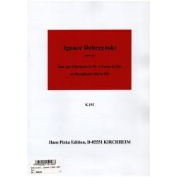 Dobrzynsky, Ignacy Feliks: Duo : für Klarinette (Trompete) und Horn in Es (Altsaxophon) 2 Spielpartituren