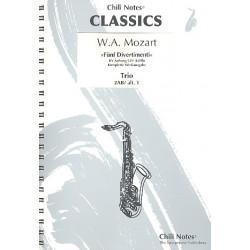 Mozart, Wolfgang Amadeus: 5 Divertimenti KVAnh229 (KV439b) : f├╝r 3 Saxophone (AABar/AAT) Partitur und Stimmen