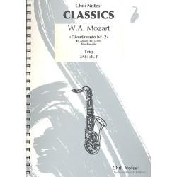 Mozart, Wolfgang Amadeus: Divertimento Nr.2 KVAnh229 (KV439b) : f├╝r 3 Saxophone (AABar/AAT) Partitur und Stimmen