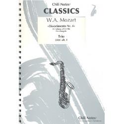Mozart, Wolfgang Amadeus: Divertimento Nr.4 KVAnh229 (KV439b) : f├╝r 3 Saxophone (AABar/AAT) Partitur und Stimmen