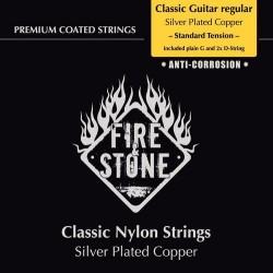 Fire & Stone Saiten für Konzertgitarre 4/4 - Stärke: mittel (standard tension)