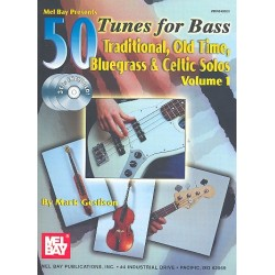 Geslison, Mark: 50 Tunes (+3CD's) vol.1 : for bass traditional, old time , bluegrass and celtic