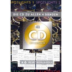 Spotlights - 6 neue Bonus-Soli (+CD zu den Bänden 1-4) : für Schlagzeug